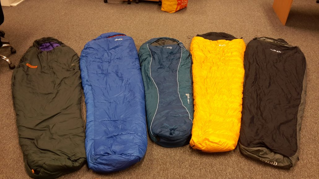5 Possible DofE Sleeping Bags